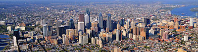 Photograph - Panoramic Philly Skyline Aerial Photograph by Duncan Pearson