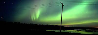 Panoramic Prairie Northern Lights Art Print by Mark Duffy