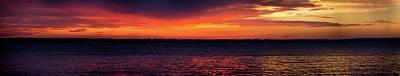 Photograph - Panoramic Raining Sunset by Erich Grant