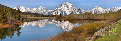 Photograph - Panoramic Reflections At Oxbow by Adam Jewell