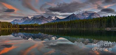 Photograph - Panoramic Reflections In Herbert Lake by Adam Jewell