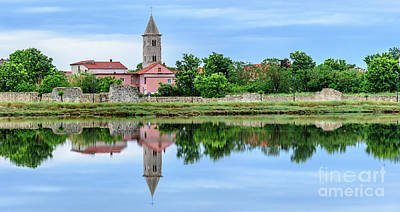 Photograph - Panoramic Reflections Of Nin, Croatia by Global Light Photography - Nicole Leffer
