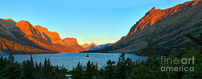 Sait Photograph - Panoramic Saint Mary Sunrise by Adam Jewell