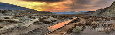 Photograph - Panoramic Salt Creek Sunset by Adam Jewell