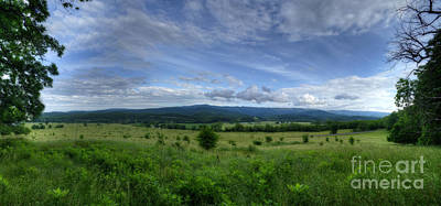Photograph - Panoramic Scenic Of Farmland Along The South Branch Of The Potomac by Dan Friend