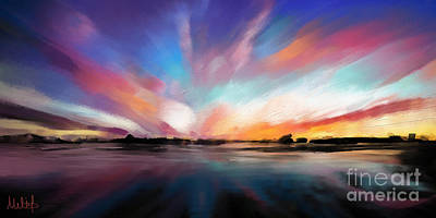 Cloudscape Painting - Panoramic Seascape by Melanie D