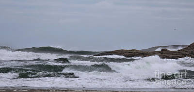 Photograph - Panoramic Storm Effects At Popham Beach, Maine by Sandra Huston