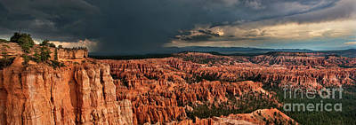 Photograph - Panoramic Summer Storm Bryce Canyon National Park Utah by Dave Welling