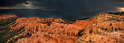 Photograph - Panoramic Summer Thunderstorm Bryce Canyon National Park Utah by Dave Welling