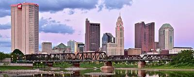 Photograph - Panoramic Sundown In Columbus by Frozen in Time Fine Art Photography