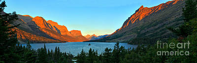Sait Photograph - Panoramic Sunrise At St. Mary by Adam Jewell
