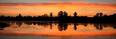 Photograph - Panoramic Sunrise Over Alligator Lake by rd Erickson