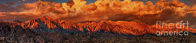 Photograph - Panoramic Sunrise Storm Alabama Hills Eastern Sierras California by Dave Welling