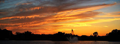 Photograph - Panoramic Sunset Over Lake City Florida by rd Erickson