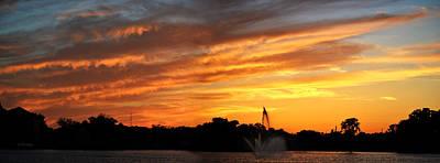 Photograph - Panoramic Sunset Over Lake City Florida by rd Erickson