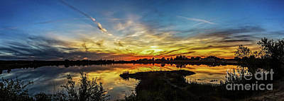 Photograph - Panoramic Sunset by Robert Bales