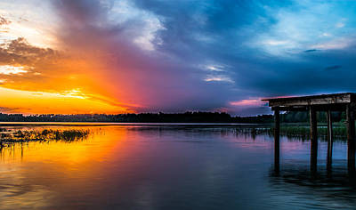 Photograph - Panoramic Sunset by Shelby  Young