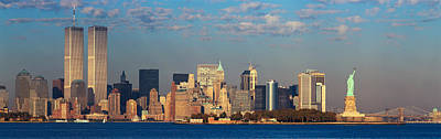 New York City Photograph - Panoramic Sunset View Of World Trade by Panoramic Images