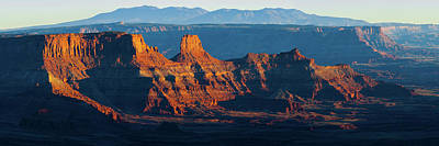 Photograph - Last Light - A Panoramic Utah Landscape Image Of Dead Horse Point State Park by Gregory Ballos