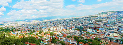 Photograph - Panoramic View At Athens Greece by Marek Poplawski