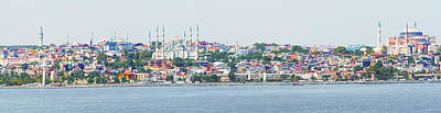 Photograph - Panoramic View At Istanbul, Turkey. by Marek Poplawski