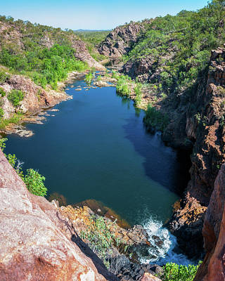 Photograph - Panoramic View From Above At Edith Falls, Australia by Daniela Constantinescu
