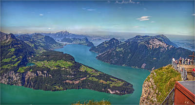 Outlook Photograph - Panoramic View From Vis-a-vis by Hanny Heim