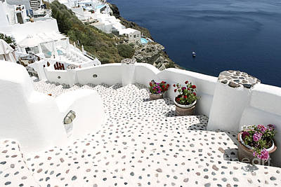 Architecture Photograph - Panoramic View In Oia,santorini,greece by Dani Prints and Images