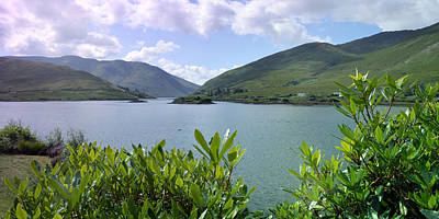 Photograph - Panoramic View Kylemore Loch by Terence Davis