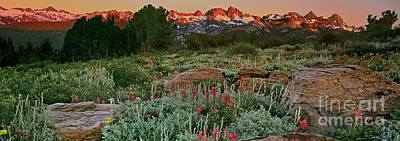 Photograph - Panoramic View Minarets And The Eastern Sierras  by Dave Welling