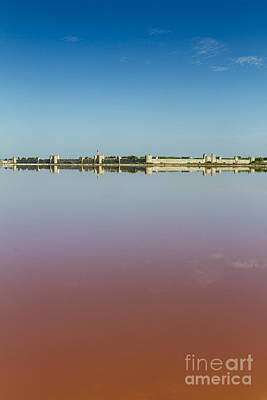 Photograph - Panoramic View Of Aigues-mortes From Salt Flats - Camargue - France by Pier Giorgio Mariani