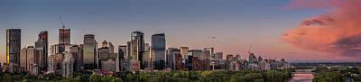 Panoramic View Of Calgary Original by Yves Gagnon