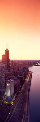 Panoramic View Of Chicago Skyline Print by Panoramic Images