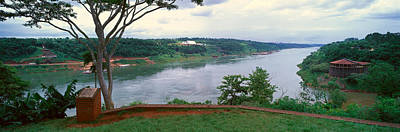 Panoramic View Of Confluence Of Iguazu Art Print