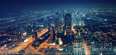 Photograph - Panoramic View Of Dubai City by Anna Om