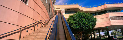 Panoramic View Of Escalator And Stairs Art Print by Panoramic Images