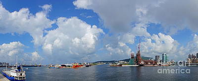 Photograph - Panoramic View Of Kaohsiung Port by Yali Shi