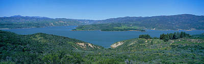 Rural Landscapes Photograph - Panoramic View Of Lake Castaic by Panoramic Images