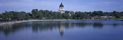 South Dakota Tourism Photograph - Panoramic View Of Lake With View by Panoramic Images