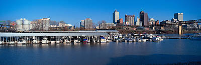 Watercraft Photograph - Panoramic View Of Memphis, Tn Skyline by Panoramic Images