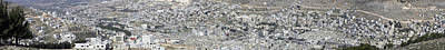 Photograph - Panoramic View Of Nablus 2 by Isam Awad