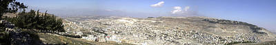 Photograph - Panoramic View Of Nablus by Isam Awad
