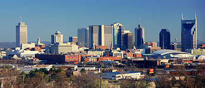 Panoramic View Of Nashville, Tennessee Art Print by Panoramic Images