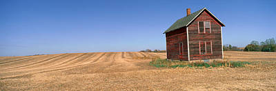 Bucolic Scenes Photograph - Panoramic View Of Old Farm Building by Panoramic Images