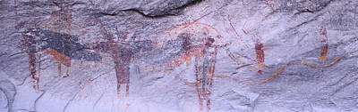 Native American Symbols Photograph - Panoramic View Of Petroglyphs Of Stick by Panoramic Images