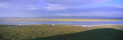 Panoramic View Of Soda Lake At Sunset Art Print