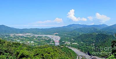 Photograph - Panoramic View Of Southern Taiwan by Yali Shi