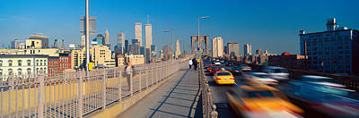 Nyc Taxi Photograph - Panoramic View Of Speeding Taxis by Panoramic Images