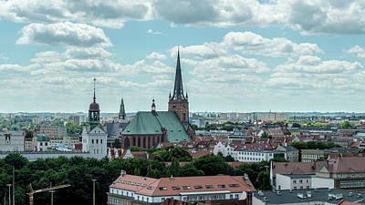 Photograph - Panoramic View Of Szczecin Cathedral by Jacek Wojnarowski