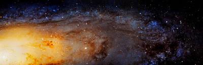 Panoramic View Of The Andromeda Galaxy Art Print